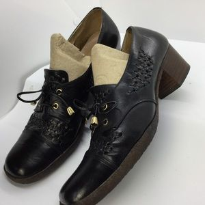 Sesto Meucci woven leather Block Heel shoes Pump
